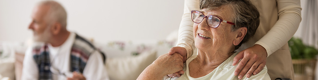 Elderly support in aged care facility